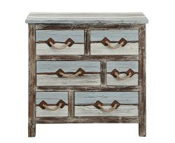 Treasure Trove Six Drawer Chest, Brown/Blue/Cream