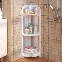Sodoop Bathroom Storage Shelf, 3-Tier Shelving Unit Bathroom Floor Storage Corner Tower,Storage  ...