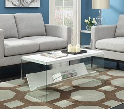 Convenience Concepts 131557W Coffee Table, White