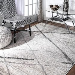 nuLOOM Contemporary Thigpen Area Rug, 6′ 7″ x 9′, Grey