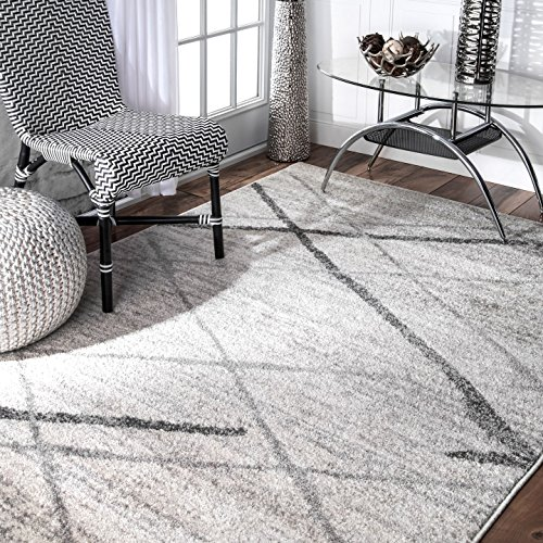 nuLOOM Contemporary Thigpen Area Rug, 6′ 7″ x 9′, Grey
