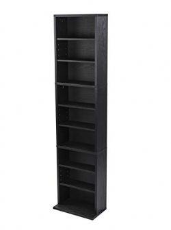 Atlantic Herrin Adjustable Media Cabinet – Holds 261CD, 114DV, 132 Blu-Ray/Games PN7473625 ...