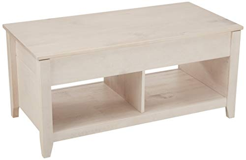 AmazonBasics Lift-Top Storage Coffee Table, White