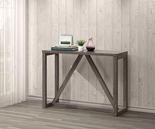 Weathered Grey Finish Accent Entryway Console Sofa Table