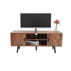 Iwell Mid-Century Modern TV Stand for Living Room, TV Console Storage Cabinet, Retro Home Media  ...