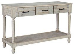 Signature Design by Ashley T782-4 Shawnalore Sofa Table, Whitewash