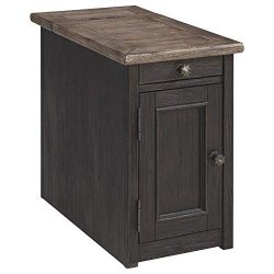 Ashley Furniture Signature Design – Tyler Creek Chairside End Table with USB Ports & C ...