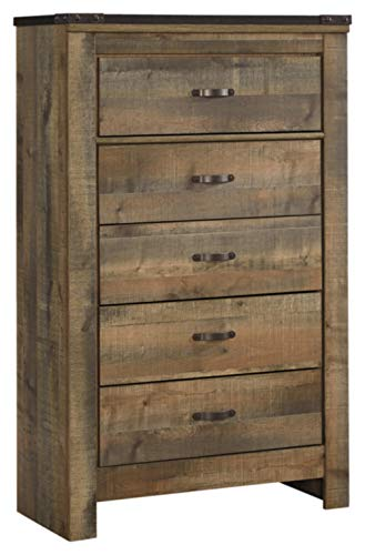Ashley Furniture Signature Design – Trinell Chest – 5 Drawers – Nailhead Accen ...