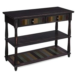 VASAGLE Console Table with Colorful Drawers, 3-Tier Entryway Table with Shelves, for Living Room ...