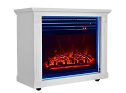 GMHome 23 Inches Electric Fireplace Freestanding Heater Moveable Electric Fireplace, 7 Changeabl ...