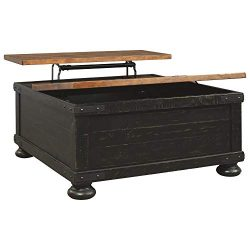 Signature Design by Ashley Valebeck Square Lift Top Cocktail Table, Black