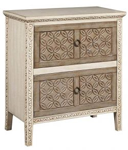 Pulaski DS-D212-005 Two Tone Carved Front Accent Chest Beige