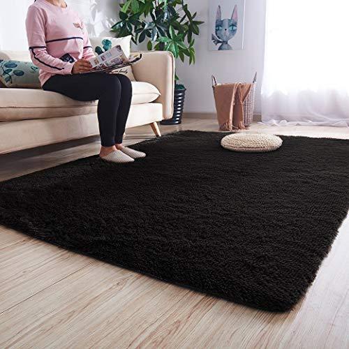 Noahas Ultra Soft Shaggy Area Rugs Fluffy Living Room Carpet Bedroom Fur Rug Anti-Skid Child Pla ...