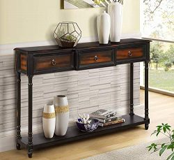Console Table for Entryway Sideboard Table with 3 Drawers Luxurious and Exquisite Design Sofa Ta ...