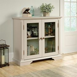 Sauder 419941 New Grange Display Cabinet, L: 39.37″ x W: 14.49″ x H: 35.55″, C ...