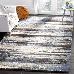 Safavieh Retro Collection RET2138-1165 Modern Abstract Cream and Blue Area Rug (6′ x 9′)