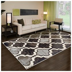 Superior Modern Viking Collection Area Rug, 8mm Pile Height with Jute Backing, Chic Textured Geo ...