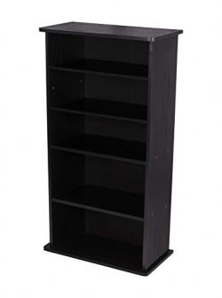 Atlantic Drawbridge XL Media Cabinet – Holds 240 CDs, Wide Stable Base, 4 Adjustable, 2 Fi ...