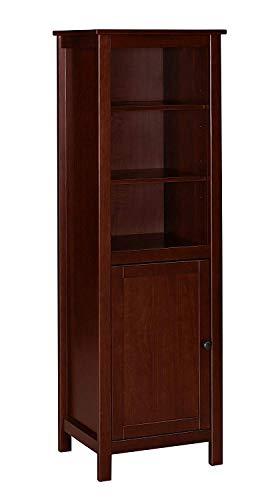 MUSEHOMEINC California Farmhouse Wood TV Tower/Bookcase Media Storage/Multimedia Organizer Shelf ...