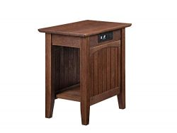 Atlantic Furniture Nantucket Side Table, Burnt Amber
