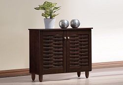Baxton Studio Wholesale Interiors Winda Modern and Contemporary 2-Door Dark Brown Wooden Entrywa ...