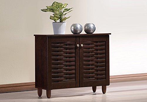Baxton Studio Wholesale Interiors Winda Modern and Contemporary 2-Door Dark Brown Wooden Entrywa ...