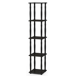 FURINNO Turn-N-Tube Rack, Classic, Espresso/Black