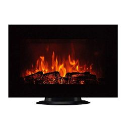 Homeleader 35″ Electric Fireplace Heater, with Remote Control, Wall Mounted and Freestandi ...
