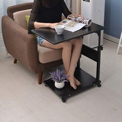 Eoeth Multifunction Office Desk Bedside Laptop Desk Movable Lazy Table Bed Desk Side Table Wheel ...