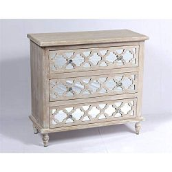 Emerald Home Furnishings Canterwood 3 Drawer Mirrored Accent Chest