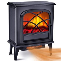 Infrared Fireplace Heater – Electric Space Heater for Large Room w/1500W Strong Power & ...