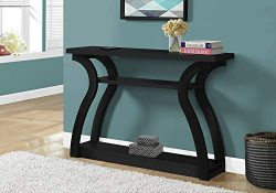 Monarch Specialties I CONSOLE TABLE, BLACK