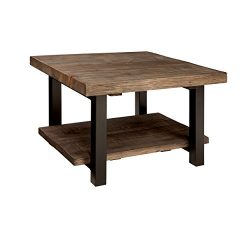 Alaterre AZMBA1320 Sonoma Rustic Natural Cube Coffee Table, Brown, 27″