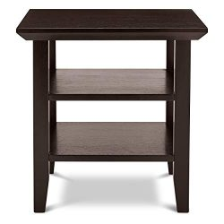 Civet Home Double Shelf End-Table, Black