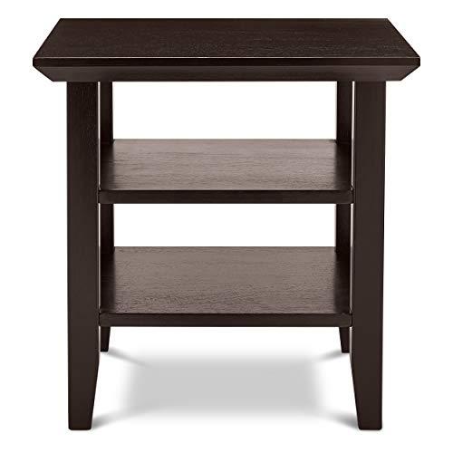 Civet Home Double Shelf End-Table, Black