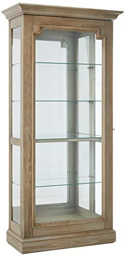 Howard Miller CADEN III Curio Cabinet, Aged Gray