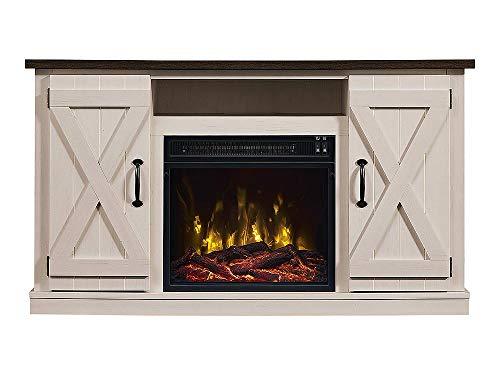 Comfort Smart Killian Electric Fireplace TV Stand, Two-Tone