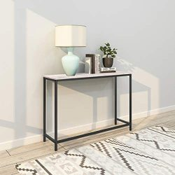HOMERECOMMEND Sofa Tables End Table Computer Desk Coffee Snack Console Tables for Living Room Or ...
