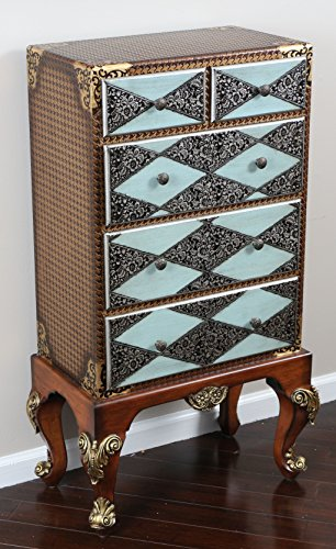 Oliver and Smith – French Parisian Collection – Solid Wood Antique Accent Bombay Che ...