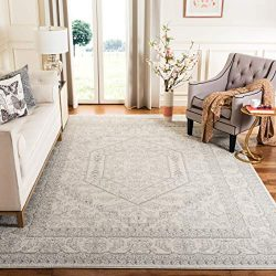 Safavieh Adirondack Collection ADR108B Ivory and Silver Oriental Vintage Medallion Area Rug (8&# ...