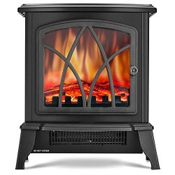 Infrared Space Heater – Electric Fireplace Heater with 3D Flame Effect, 2 Heat Modes, 1500 ...