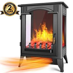 Infrared Electric Fireplace Stove – Air Choice Freestanding Electric Fireplace Heater with ...