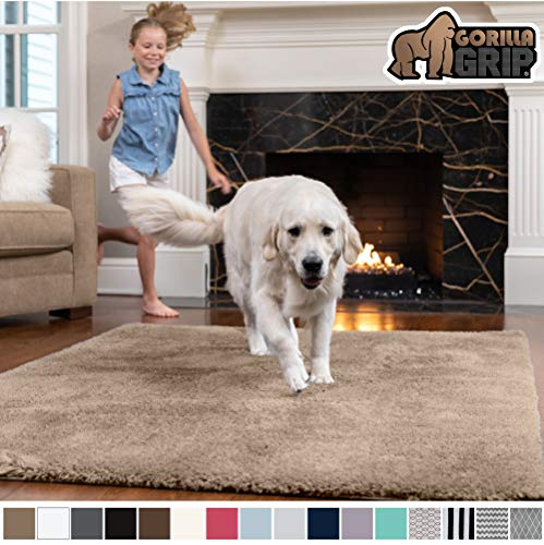 Gorilla Grip Original Faux-Chinchilla Area Rug, 4×6 Feet, Super Soft and Cozy High Pile Was ...