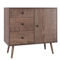 HOMFA Wide Dresser with 3 Drawer Chest and 1 Side Cabinet, 31L inch End Table Nightstand, File S ...