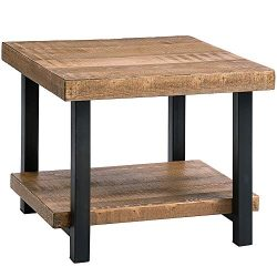 Romatlink End Tables Living Room, Side Table with Storage Shelf, Wood Look Accent Home Furniture ...