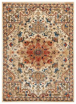 Luxe Weavers Howell Collection Ivory Oriental 8×10 Area Rug 2527