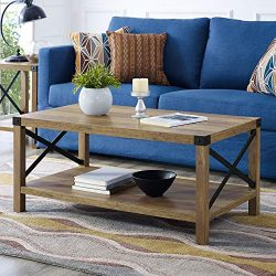 WE Furniture Coffee Table, Rustic Oak