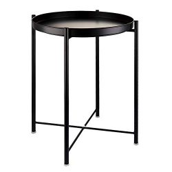 EKNITEY End Table,Folding Metal Side Table Waterproof Small Coffee Table Sofa Side Table with Re ...