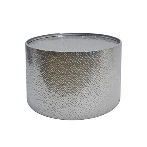 Christopher Knight Home Rache Modern Round Coffee Table with Hammered Iron, Silver, 26. 00″ ...