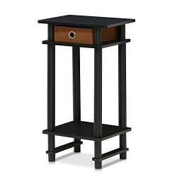 FURINNO 17017 Turn-N-Tube End Table, 1-Pack, Espresso